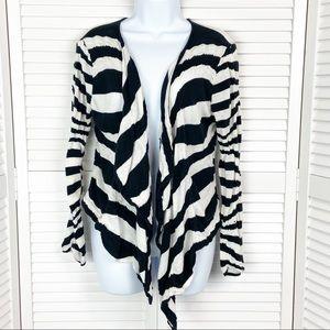 Free People Zebra Stripe Cardigan Sweater Medium